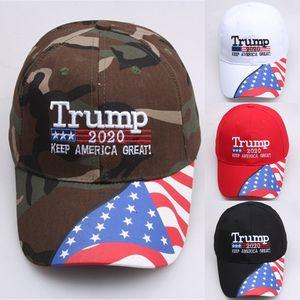 4 colors Donald trump baseball cap Star USA Flag Camouflage Cap 2020 Keep America Great Hat Adjustable Snapback hat Wholesale JJ607