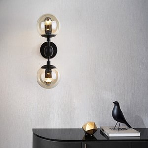 Industrial Loft Metal Wall Lamp 2 heads Magic Bean Molecule Living Room Dining Room Bedroom Wall Sconce WA117