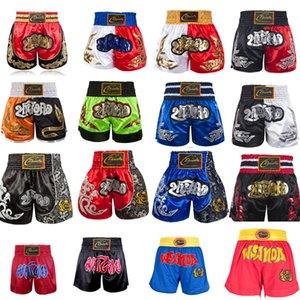 Pantaloncini Thai Boxe bambini di bassa statura bambini Pantaloni Muay Thai Donne uomo Ragazza Kickboxing Boxer per il ragazzo Grappling Trunks