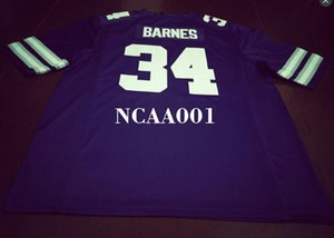 Men #34 Alex Barnes Kansas State Wildcats Alumni College Jersey S-4XLor custom any name or number jersey