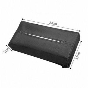 New Car PU tecido de couro Box Sunvisor Braço Cadeira Caixa Voltar Tissue Holder Toalha Capa de papel Caso Acessórios Auto 3obt #