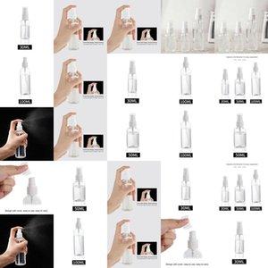 Spray Bottle 30Ml 50Ml 100Ml White Portable Refillable Achohol Sprayer Bottle Plastic Sanitizer Holder Bottle On Sale 20970Vd vDsYh