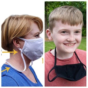 new Soft Cotton Face Mask hanging neck Fashionable Reusable Cloth Washable Dustproof mask kids adult pm2.5 masks Designer Masks T2I51226
