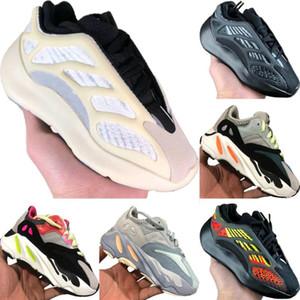 Avec Box 2020 Azaël 700 V3 statique réfléchissant Enfants Mesh respirant Running Shoe Originals Kanye West 700 V2 Enfants Tampon en caoutchouc Chaussures de sport