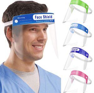 US Lager! Sicherheit Radfahren Maske Gesicht Transparent Vollgesichtsschutzabdeckung Film Werkzeug Anti-Fog-Premium-PET-Material Face Shield Schild
