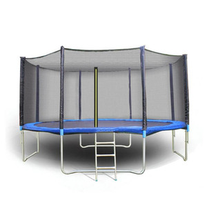 USA livraison locale Grand 12ft Trampoline Family Fun avec filet de protection et échelle de jardin jeux en plein air pour adultes Saut / Enfant exercice