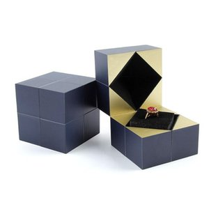 Creative Magic Cube Jewelry Box Earrings Ring Box Proposal Engagement Wedding Jewelry Case Gift Accessories Packaging