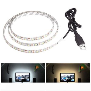5V 50CM 1M 2M 3M 4M 5M USB Cable Power LED strip light lamp SMD 3528 Christmas desk Decor lamp tape For TV Background Lighting waterproof
