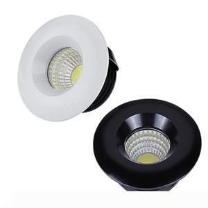 110V 220V 12V LED Regulável Downlights Rodada COB Mini Ponto recesso levou para baixo lâmpada para gabinete doméstico luzes para o motorista vitrine incluído