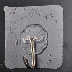 10 Uds. Potente Pared de dibujos animados Invisible creativa baño ventosa gancho cocina accesorios LED armario inducción luz nocturna