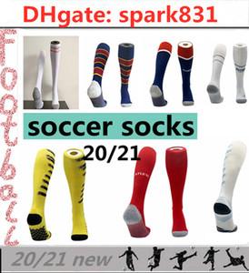 Futebol meias 20 21 meias desportivas para adultos e futebol criança 2020 2021 ISCO ASENSIO Pogba MESSI Mbappé ajuste pés tamanho universal venda com desconto