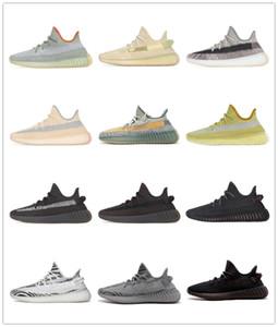 Para hombre de los zapatos corrientes de las zapatillas de deporte Deportes mujeres mejor Kanye West Desert Sage estático Tierra Zyon luz de la cola de la escoria V2 cebra Tamaño 5-13