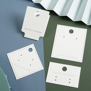 100 أجزاء قلادة بطاقات عرض بطاقات فارغة قلادة حامل بطاقة مجوهرات بيضاء عرض بطاقات شنقا للقلائد أساور مجوهرات BQ36
