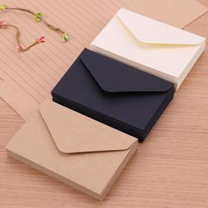 20PCS classique blanc noir Kraft papier vierge Mini fenêtre Enveloppes mariage invitation Enveloppe cadeau enveloppe