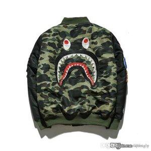 2017 New A BATHING A APE ULTIMATE 1ST CAMO LIGHTWEIGHT MA1 BOMBER JACKET GREEN MENS Bap Shark Head MA1 Army Flight Bomber Coat Camouflage