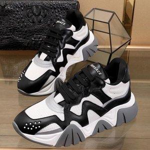 Zapatos de los hombres nueva llegada para hombre de los zapatos del diseñador de moda deportivo ligero atan -Up top del punto bajo más el tamaño de las zapatillas de deporte de lujo Squalo Scarpe Da Uomo
