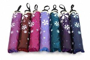 Regenschirm Frauen gewellten Rand Wellenförmig Rand Sunny und Regen Regenschirm Winddichtes Sonnenschutz UV-proof Floding Sonnenschirme Sonne Regen N6r2 #