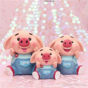 pigs little cute Cartoon pink fall not bad cute piggy bank creative gifts children save money coins savings plastic cans
