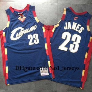 Cleveland baloncesto de los hombresNBACavaliers23Lebron James Mitchell Ness azul retro alero jerseys