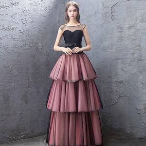Fashion Luxury Cake Skirt Bandage Evening Dress Romantic Princess Long Layered Dress Formal Gown Cheongsam Vestidos De Noche