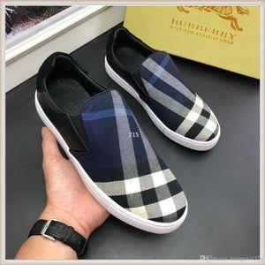 715 Top luxury Men Shoes Casual hommes Lace-Up Mens Shoes Casual with Original Box Zapatos de hombre Fast Ship Size 38-44