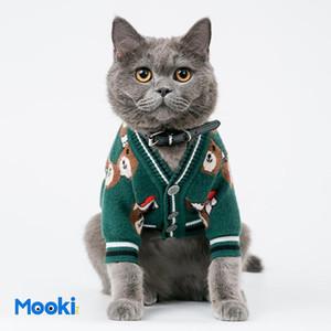 New Year Lovely Pet Sweaters Cute Bear Pattern Pet Cats Dogs Coat Winter Trendy Teddy Bichon Jacket Apparel