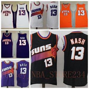 Sıcak Vintage Basketbol Formalar Ev, Steve Nash 13 PhoenixSunsSICAKnba Koleji Steve Nash 13 Sürümü SunsStitched Kazanılan