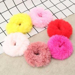 Новый корейский конфеты цвет имитация плюшевый кролик группа веревка мило шерсть волос полоса шерсти мяч плюшевый мяч волосы