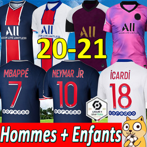 NEYMAR MBAPPE ICARDI PSG JORDAN FOOTBALL JERSEYS 19 20 21 PSG soccer jersey 2019 2020 2021 paris saint germain football jersey kit shirt PSG child SETS children