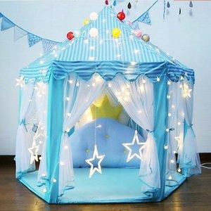 de princesa Girl Castillo Playtent Ensamble de niños de la tienda de juguetes Ball Pool casa del juego de los niños Pequeña Casa plegable al aire libre Jardín Carpa