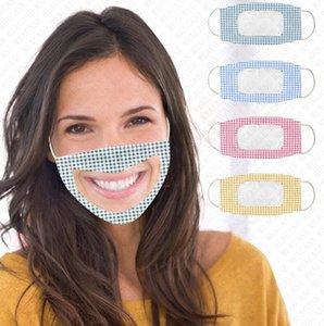 couverture de face de la bouche de face visible de créateur de masques de protection masque camouflage masques patchwork clairs pour sourds-muets D72802 sourds-muets