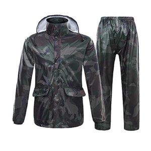 Герметичная Camo Мужчины Дождевик штаны Мотоцикл пальто Женщины Мужчины дождевик Водонепроницаемый костюм Кабо передач Adulte Камп Malzemeleri R5C149