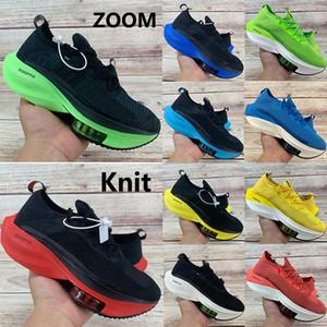 Gli uomini scarpe da corsa zoom alfa anguria nera elettrica verde volare prossimo% giro gialli volt maglia mens allevati sneakers donne formatori US 5,5-11