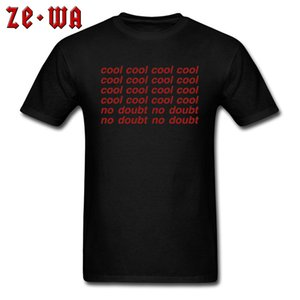 2020 O Neck T-Shirt Männer schwarzes T-Shirt Brooklyn Nine-Nine Kühle No Doubt Letter T Shirts Kleidung TV-Fans Einfach Individuelle Cotton