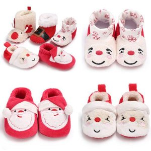 Pudcoco Infant Baby Girl Boy First Walker Shoes Winter Warm Toddler Soft Sole Snow Boots Prewalker Toddler Deer Christmas Shoes
