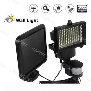 Solar Security Lights Motion Sensor 100LEDs SMD2835 Waterproof Cool White For Outdoor Garage Street Wall Lights Garden Yard DHL