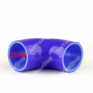 Areyourshop Universal cotovelo de 90 graus 90 milímetros 51 milímetros de vácuo Silicone Hose tubo acoplador Intercooler Turbo Água Air tubo de ligação jbwh #