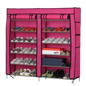 Cloth shoe cabinet home with zipper thickened economic dormitory simple large capacity super large multi-layer cloth dustproof shoe rack