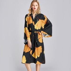 المرأة الصيف Kimino النوم رداء وصمة عار لينة جودة عالية أنيقة وصيفه الشرف ملابس الخريف حمام Homewear الحبال