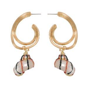 Women Sparkly Shell Earring Charm Alloy lrregular Dangle Earring Classical Style Women Party Birthday Christmas Gift