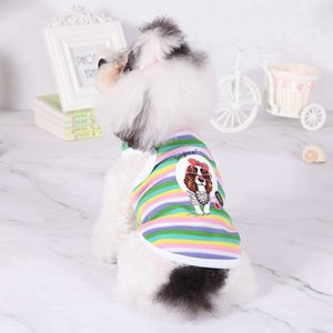 Summer Dog Vest Pet Clothes Cotton Stripe Puppy Clothing For Small Dogs Chihuahua Yorkshire Shirts Dog Shirt Suit Pets Products