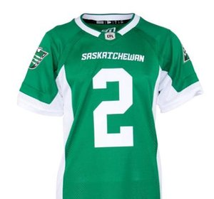 custom 2019 Men Saskatchewan Roughriders DL Micah Johnson #2 real Full embroidery College Jersey or any name or number jersey