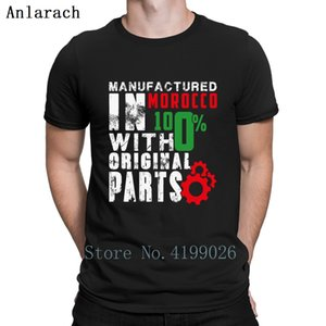 Fabricado En Marruecos camiseta con cuello redondo de la luz del sol de verano formal Natural Cotton Camisa auténtico diseñador