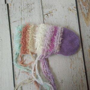 Новорожденная шляпа Фотография Реквизит, Baby Boy девушка Hat ручного мохер младенец шнурка