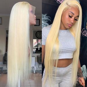Wigirl droit brésilien Remy 150% Densité Blonde Lace Front Cheveux Perruques Blonde perruques pour femme noire