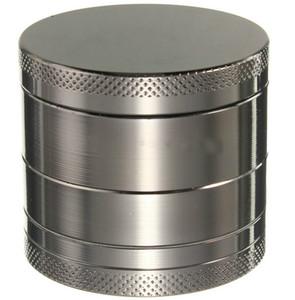 Metal Tobacco Smoke Herb Grinder Luxo 40 * 35 milímetros 4 camada fumadores Filtro Tubo Detector Retífica Acessórios DH0295
