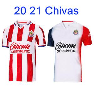 20 21 Chivas home away Soccer Jersey A.PULIDO LOPEZ BRIZUEL VEGA Football Shirts 2020 2021 Chivas Sports Soccer Uniforms Short sleeve shirt
