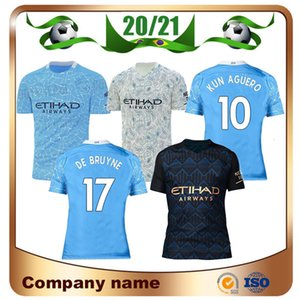 20/21 Player version Mahrez JESUS ​​DE BRUYNE AGUERO maillot de football 2020 STERLING BERNARDO G.JESUS ​​uniforme de football chemise de football Top ville CAMIS