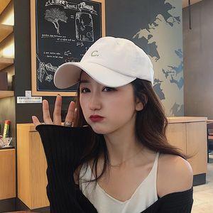 aEWPL female letter c embroidery baseball cap hatsun Hat sun hatbaseball cap summer Korean version of ins all-match couple sunshade hat tid