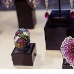 GODKI Famoso Monaco Design Big Winding Cruz geometria cúbica Ziron CZ Anel For Women Wedding Dubai nupcial Ring Finger 2019